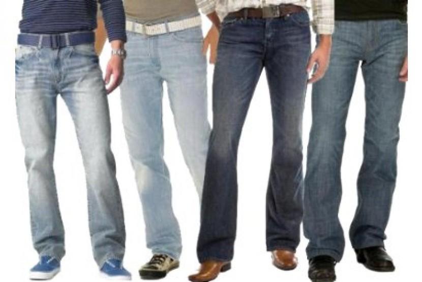 Celana jins untuk pria (ilustrasi).