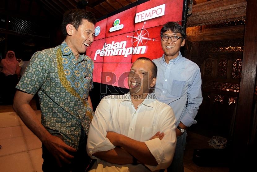 CEO General Electric (GE) Indonesia Handry Satriago (tengah).