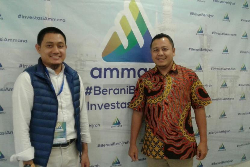 CEO PT Ammana Fintek Syariah, Lutfi Adhiansyah (kiri)