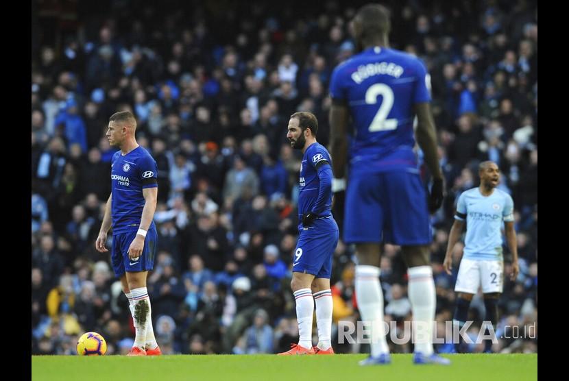 Chelsea dibantai Manchester City dengan skor 0-6 dalam laga pekan ke-27 Liga Primer Inggris di Stadion Etihad yang berakhir Senin (11/2) dini hari WIB.