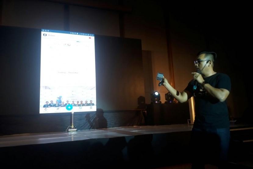 Chief Information Officer Skynosoft Portal Prime, Oorth, Mulyono Herman menjelaskan beragam fitur dalam aplikasi Oorth.