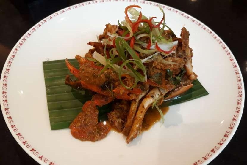 Chili Crab, kuliner populer di Singapura.