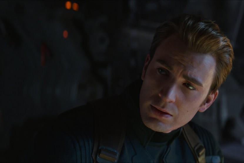 Chris Evans sebagai Captain America di Avengers: Endgame.