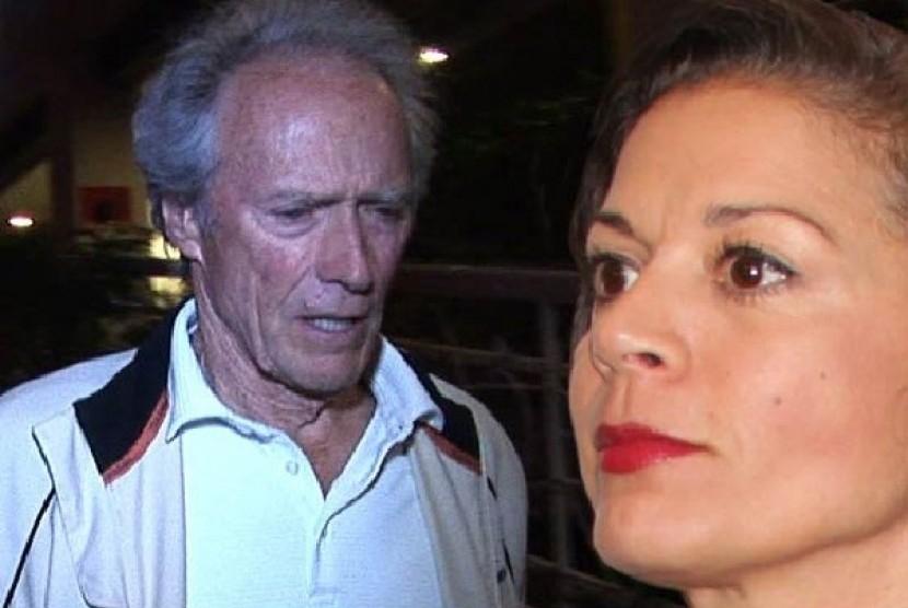 Clint Eastwood dan istrinya Dina