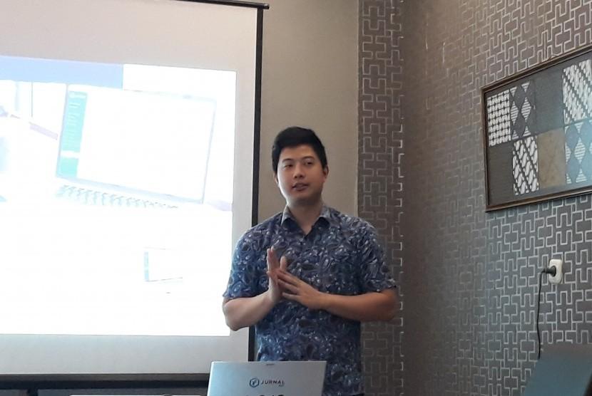 Co-Founder dan COO Jurnal ID, Anthony Kosasih, saat temu media di Yogyakarta.
