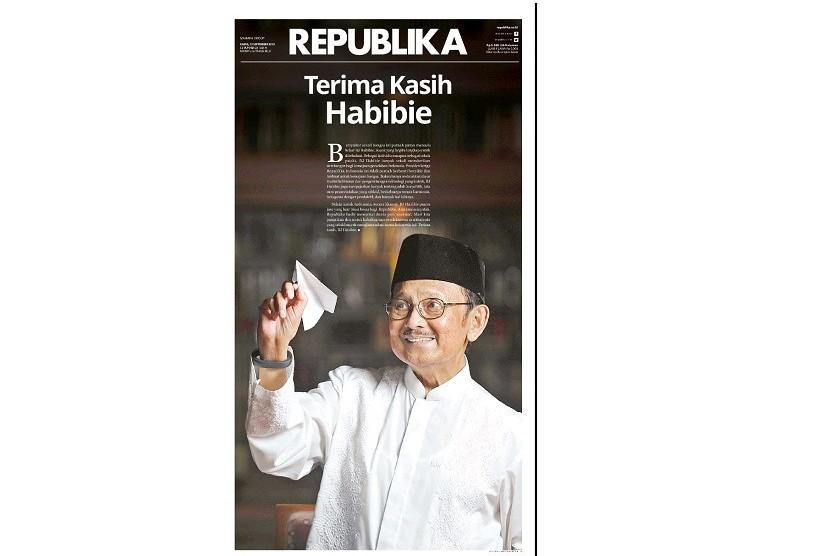 Cover Republika edisi Kamis (12/9).