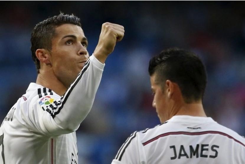 Cristiano Ronaldo dan James Rodriguez