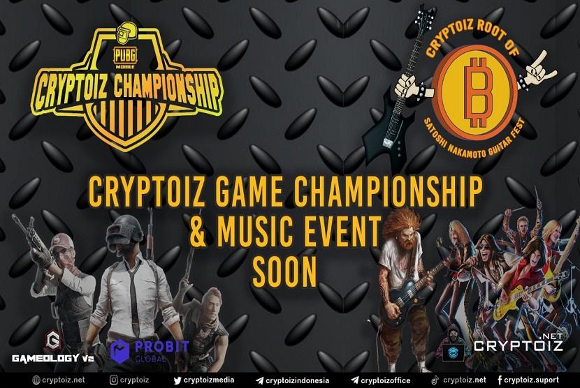 Cryptoiz akan menyelenggarakan event bernama PUBG CRYPTOIZ CHAMPIONSHIP pada tanggal 3 Agustus 2021 yang dapat diikuti para gamers, khususnya penggemar PUBG.