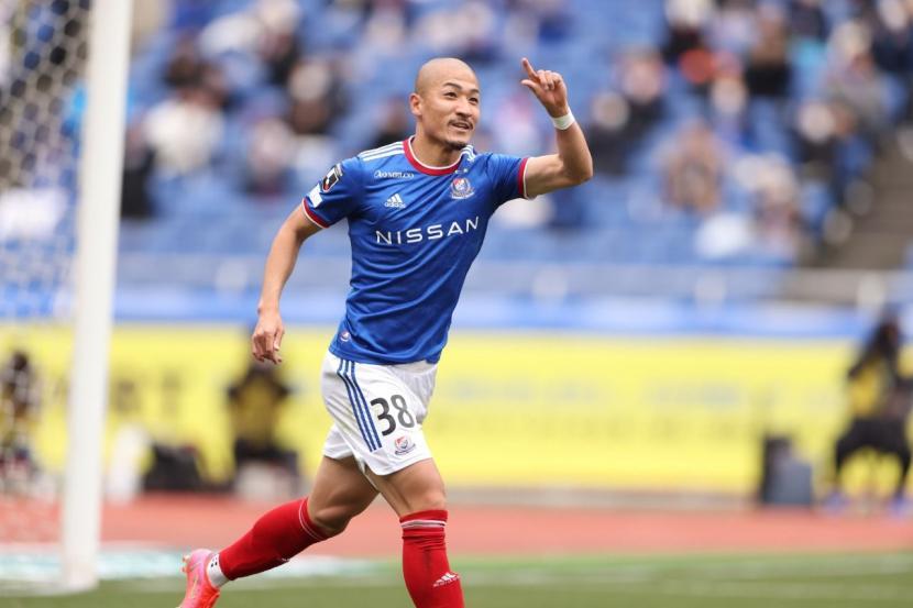 Daizen Maeda, pemain Yokohama Marinos yang membela timnas Jepang di Olimpiade Tokyo.