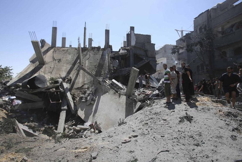 Dampak serangan udara Israel. (ilustrasi)