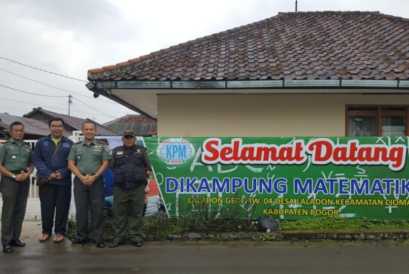 Dandim 0606 Kota Bogor mendatangi Kampung Matematika.