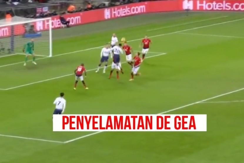 David De Gea menjadi kunci kemenangan MU melawan Tottenham Hotspur.