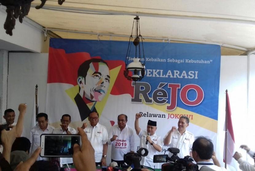 Deklarasi Relawan Jokowi di Jakarta, Ahad (6/5).