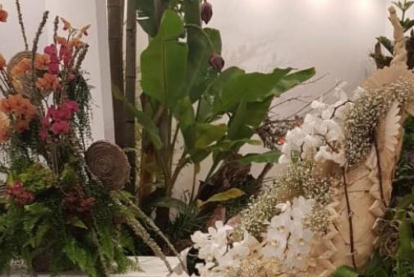 Delegasi Indonesia berhasil memenangkan tiga kategori lomba sekaligus di ajang Festival Bunga Dunia 2018