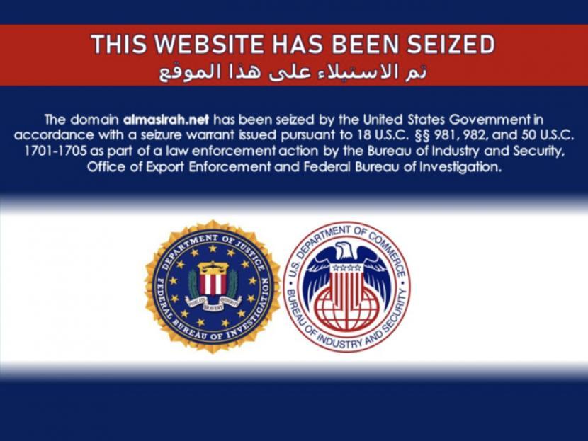 Departemen Kehakiman Amerika Serikat (AS) memblokir sekitar 36 situs Iran yang diduga melakukan kegiatan disinformasi.