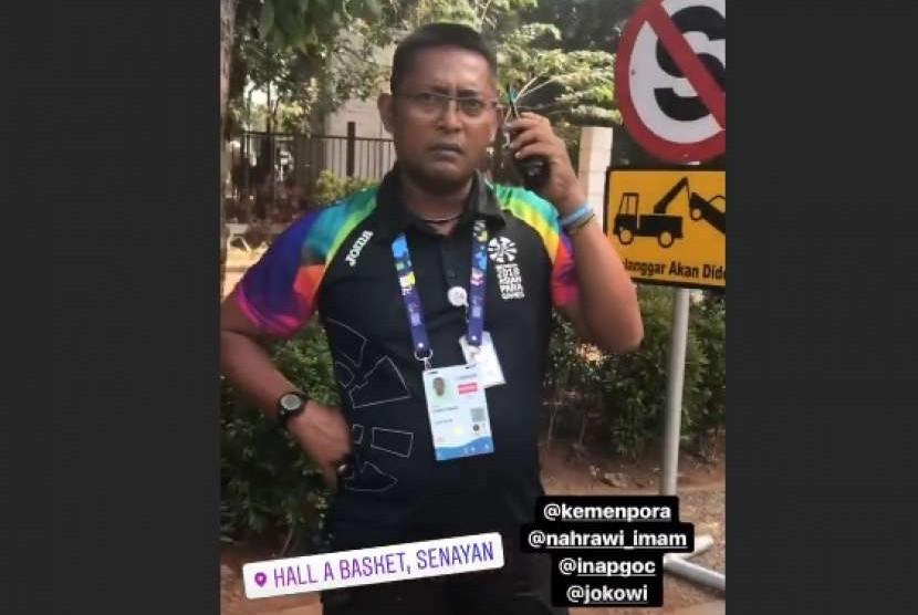 Deputi IV Inapgoc 2018 dan Kordinator Keamanan Amri Teuku Syaifullah.