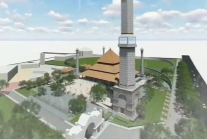 Desain masjid di Taman Sriwedari Solo.