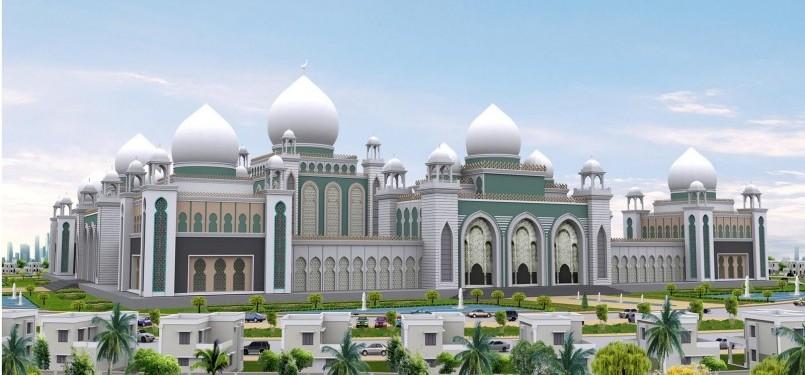 Desain masjid terbesar India.