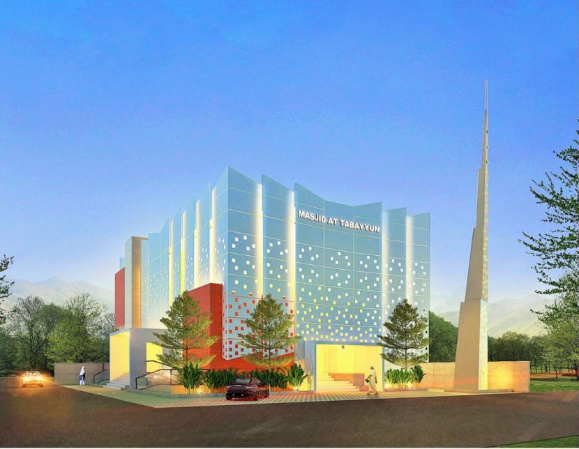 Desain masjid Attabayun.