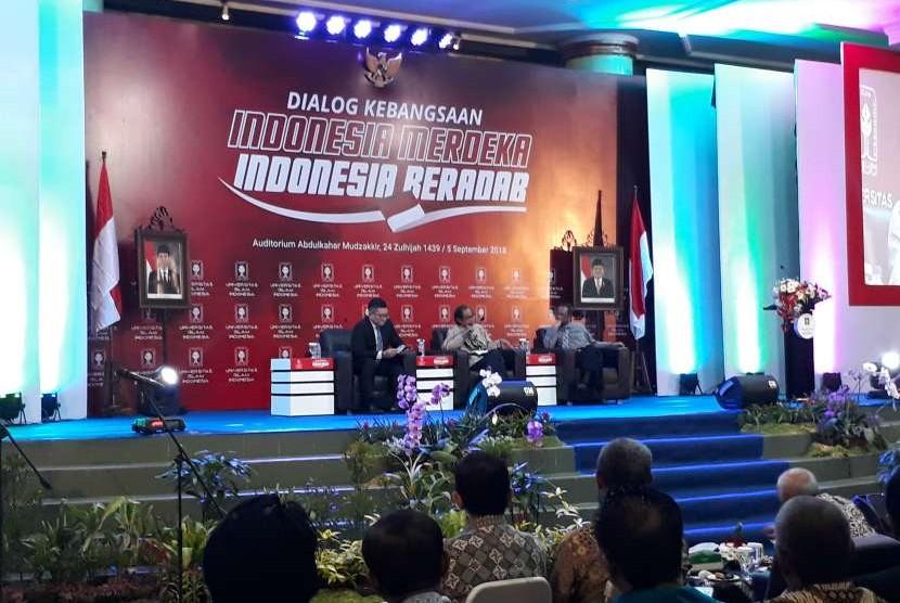 Dialog Kebangsaan Universitas Islam indonesia (UII) di Auditorium Abdulkahar Mudzakkir, Rabu (5/9).