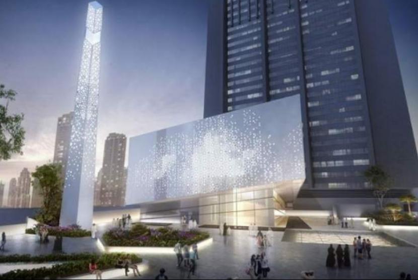 DIFC Grand Masjid di Dubai yang sedang dalam proses pembangunan