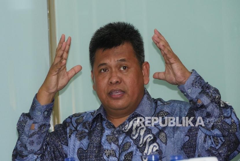 Direktur Amil Zakat Nasional (BAZNAZ) Arifin Purwakananta. (Republika/Darmawan)