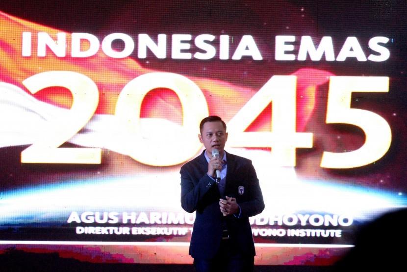 Direktur Eksekutif The Yudhoyono Institute (TYI) Agus Harimurti Yudhoyono (AHY) menyampaikan kuliah umum di Gedung Universitas Malikussaleh, Lhokseumawe, Aceh, Rabu (15/11).