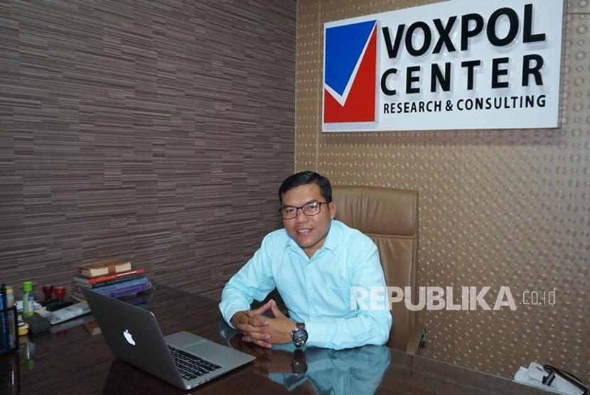Direktur Eksekutif Voxpol Center Research and Consulting, Pangi Syarwi  Chaniago