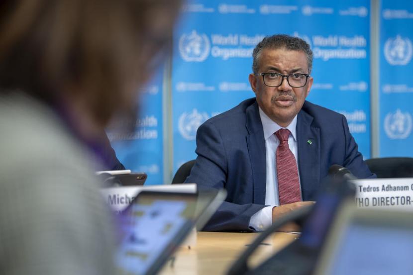 Direktur Jenderal Organisasi Kesehatan Dunia (WHO) Tedros Adhanom Ghebreyesus.