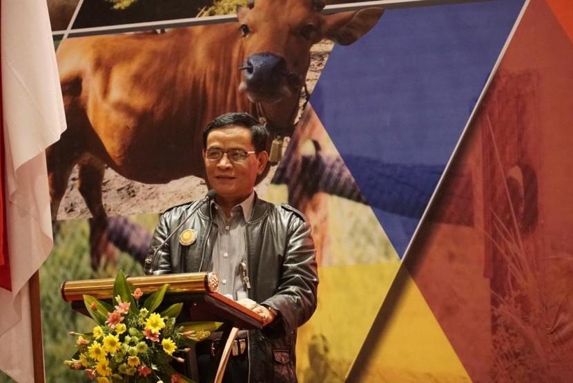 Direktur Jenderal Peternakan dan Kesehatan Hewan (PKH) I Ketut Diarmita dalam Rapat Koordinasi Teknis Nasional (Rakonteknas) di Hotel Lombok Raya, Nusa Tenggara Barat, Rabu (5/12).