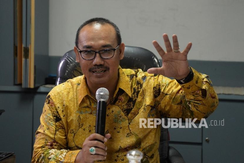 Direktur LPPOM MUI Lukmanul Hakim hadir dalam Forum Group Discussion (FGD) di Jakarta, Selasa (24/1).