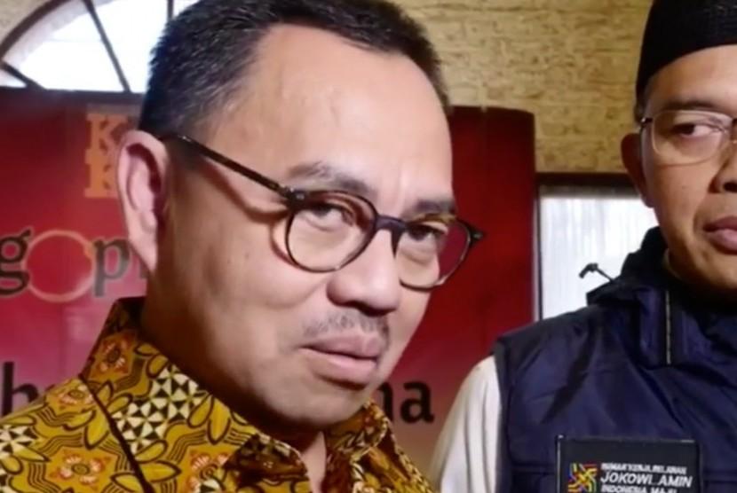 Direktur Materi Debat Badan Pemenangan Nasional (BPN), Sudirman Said (kiri)