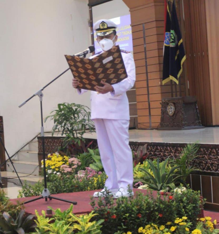 Direktur PIP Semarang Capt Mashudi Rofik pada saat Upacara Pelepasan Perwira Pelayaran Niaga (Bon Voyage) belum lama ini.