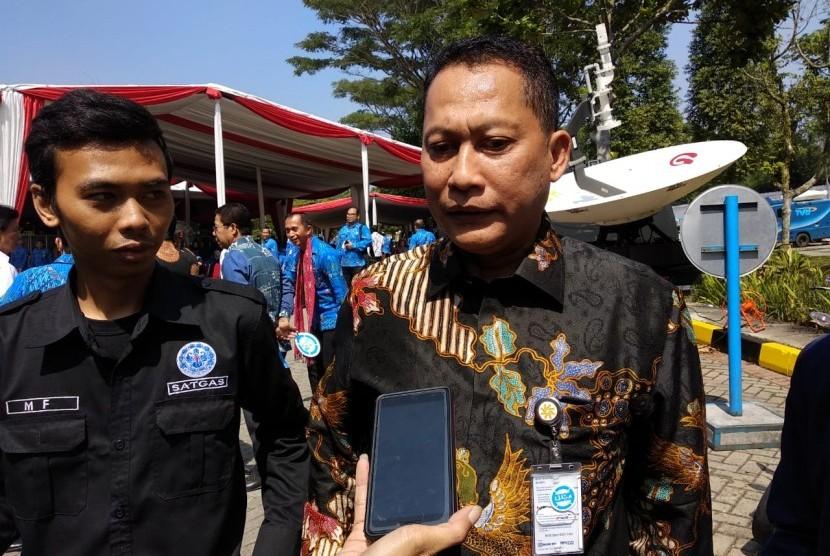 Direktur Utama Bulog Budi Waseso di acara Hari Anti Narkoba Internasional (HANI) 2018 di Balai Besar Rehabilitasi Badan Narkotika Nasional (BNN), Cigombong, Kabupaten Bogor, Kamis (12/7).
