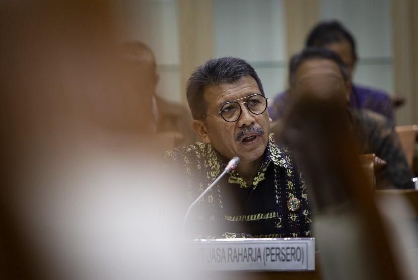 Direktur Utama PT Jasa Raharja (Persero) Budi Rahardjo Slamet.