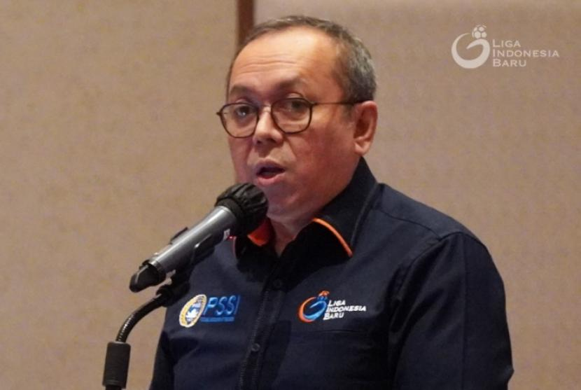 Direktur Utama PT Liga Indonesia Baru (LIB) Akhmad Hadian Lukita