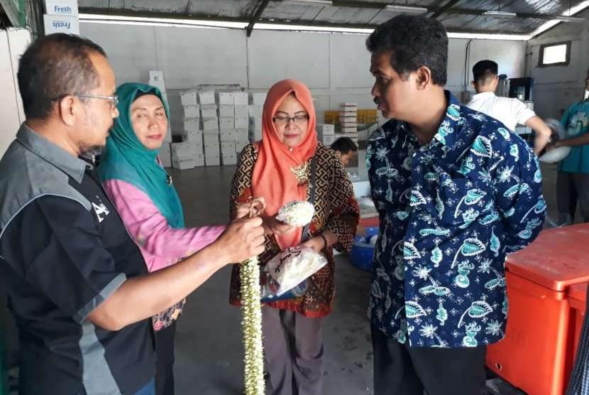 Dirjen Hortikultura Suwandi, saat berkunjung ke Kabupaten Tegal, Jawa Tengah, Kamis (9/8)