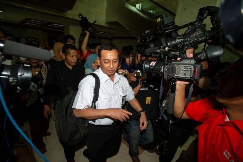 Dirut Merpati Rudy Setyopurnomo saat memenuhi panggilan BK DPR Selasa (20/11) lalu