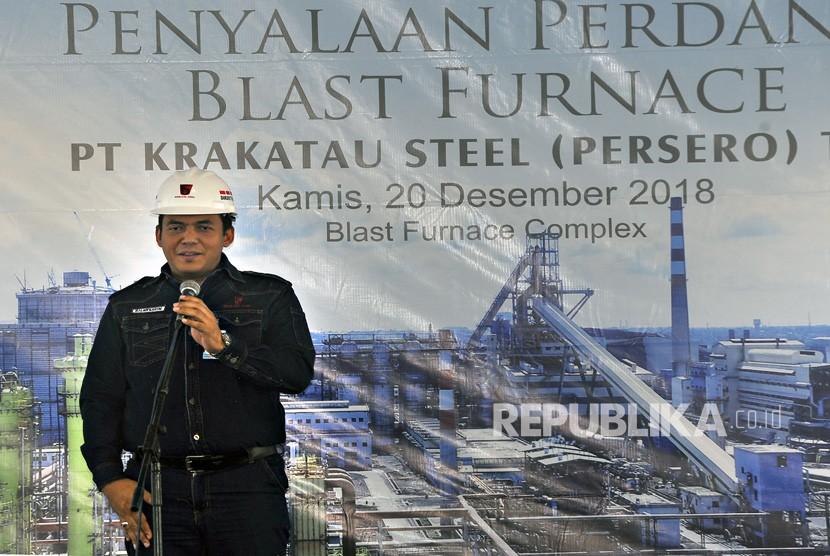 Dirut PT Krakatau Steel (Persero) Tbk (PT KS) Silmy Karim.