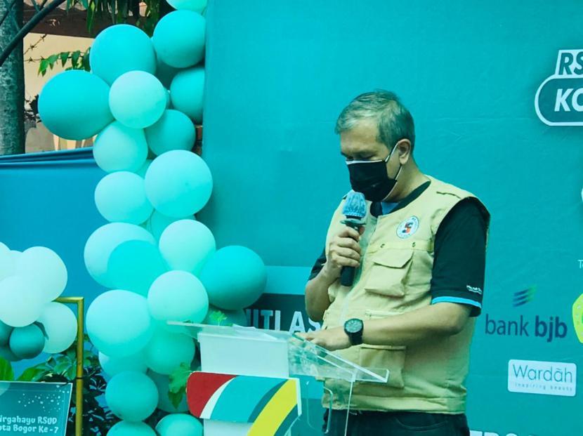 Dirut RSUD Kota Bogor, Ilham Chaidir. Dua BUMD Kota Bogor mendapar sertifikat SMK3 dan CHSE.