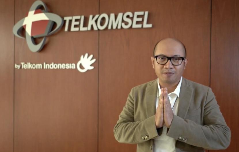 Dirut Telkomsel Setyanto Harnoto. Telkomsel menambah investasi senilai 300 juta dolar AS atau setara Rp 4,26 triliun di Gojek.