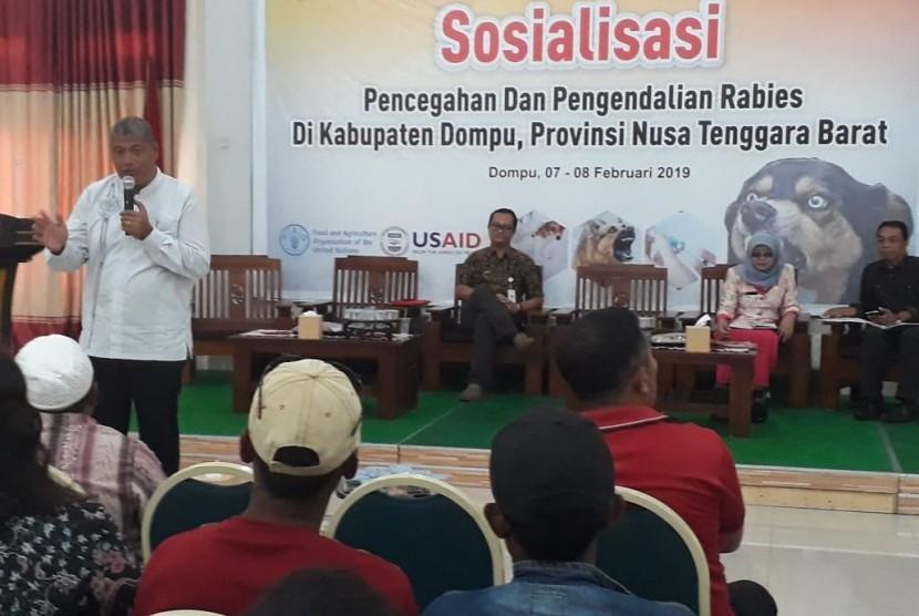 Ditjen PKH kini bersama dengan Badan Pangan dan Pertanian Perserikatan Bangsa-bangsa (FAO), melalui unit khusus di bidang penyakit hewan (FAO ECTAD) menggelar pelatihan vaksinasi kepada petugas lapangan Kabupaten Dompu, Bima, dan Sumbawa.
