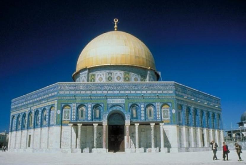 Dome of The Rock (Masjid Kubah Batu) di Yerusalem, Palestina.