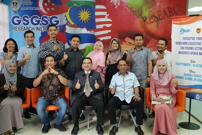 Dosen muda Unkris saat Pembukaan Program Academic Recharging di Universiti Utara Malaysia (UUM), Senin (17/9).