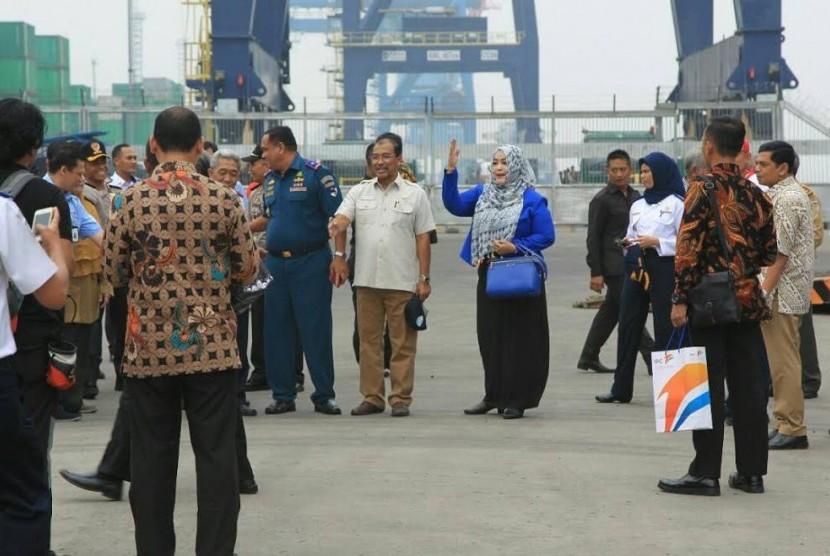 DPD meninjau Pelabuhan Tanjung Priuk dan Terminal Pulogebang mengecek info kesiapan moda transportasi mudik lebaran 2017, Kamis (22/6).