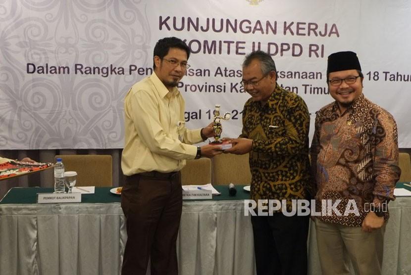 DPD RI melakukan kunjungan kerja dalam rangka pengawasan Undang-Undang (UU) No 18 tahun 2012 tentang pangan, di Gedung Grand Sudirman Balikpapan, Senin (20/11).