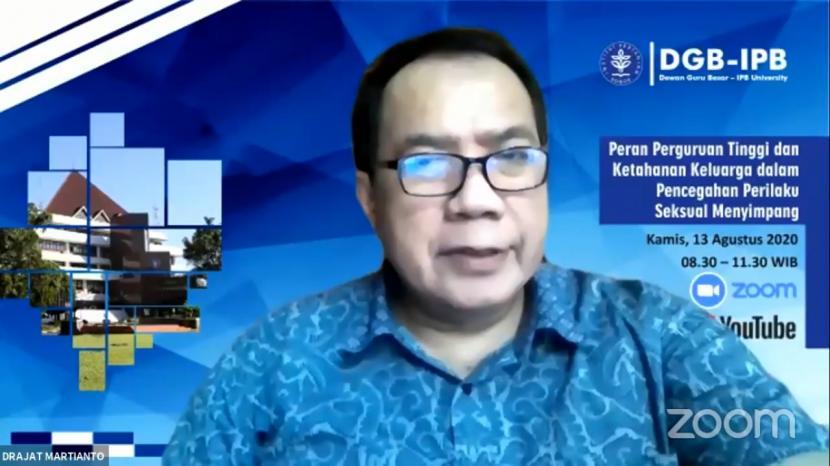 Dr Drajat Martianto, wakil rektor Bidang Pendidikan dan Kemahasiswaan IPB