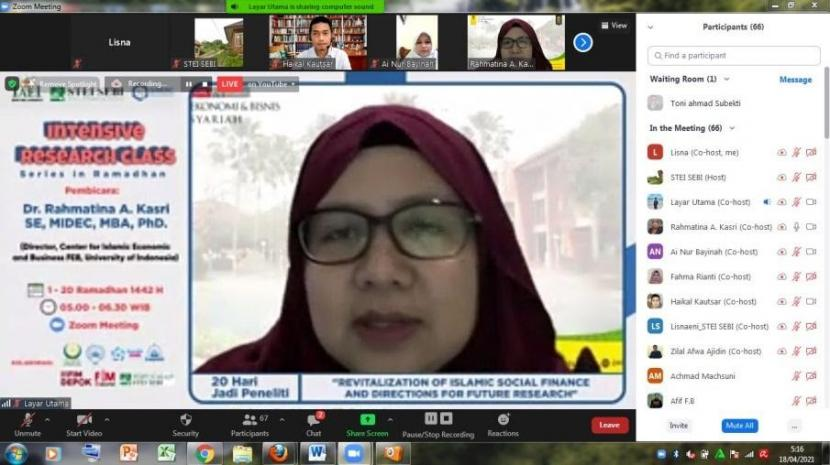 Dr  Rahmatina Awaliah Kasri, ketua IAEI DKI Jakarta