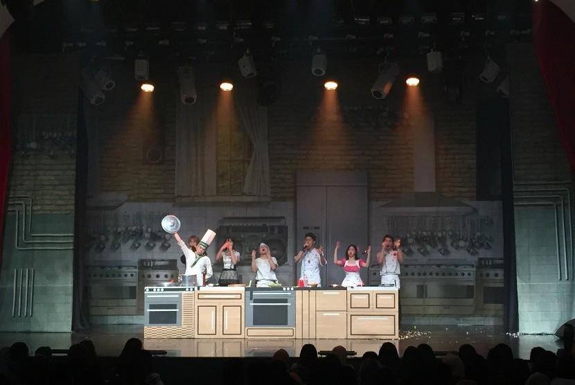 Drama musikal Chef:New Brand of Bibap, Selasa (19/3).