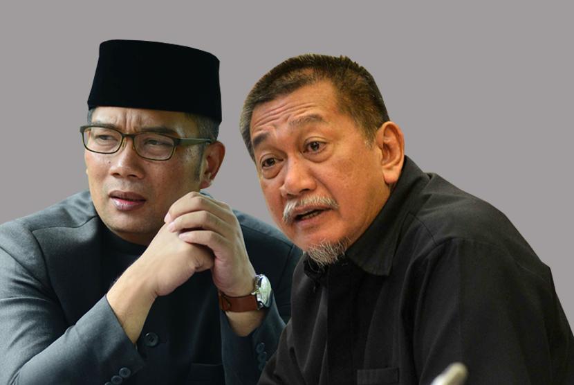 Dua Calon Gubernur Jawa Barat, Ridwan Kamil dan Deddy Mizwar